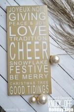 Ballard Designs Christmas Holiday Sign Knock-Off!