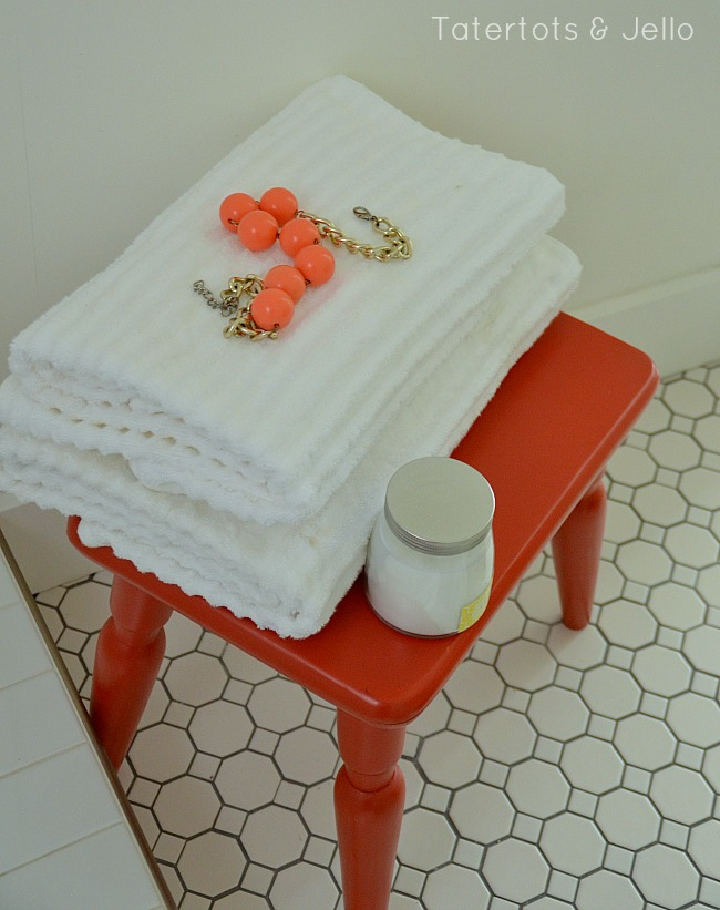 bench in the bathroom