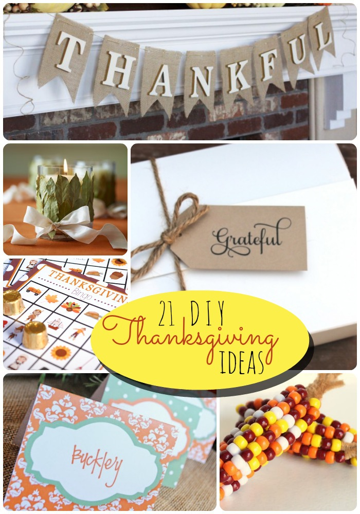21 diy thanksgiving ideas