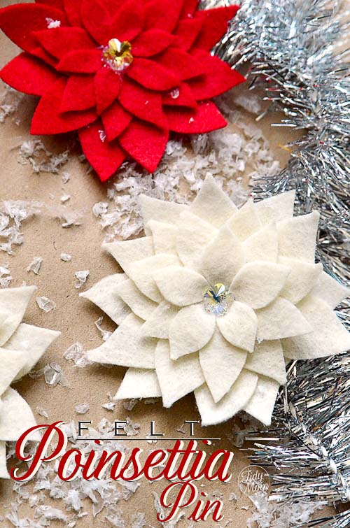 Felt-Poinsettia-Pin