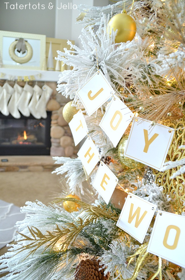 joy to the world printable banner at tatertots and jello