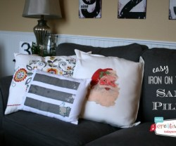 Iron-On-Transfer-Santa-Pillow