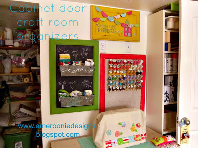 cabinet door sewing room organizers