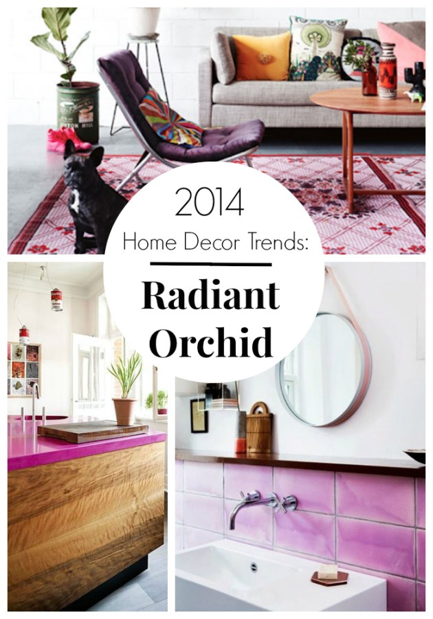 How to use Pantone's Color of the Year - Radiant Orchid in YOUR home. #decorating #radiantorchid