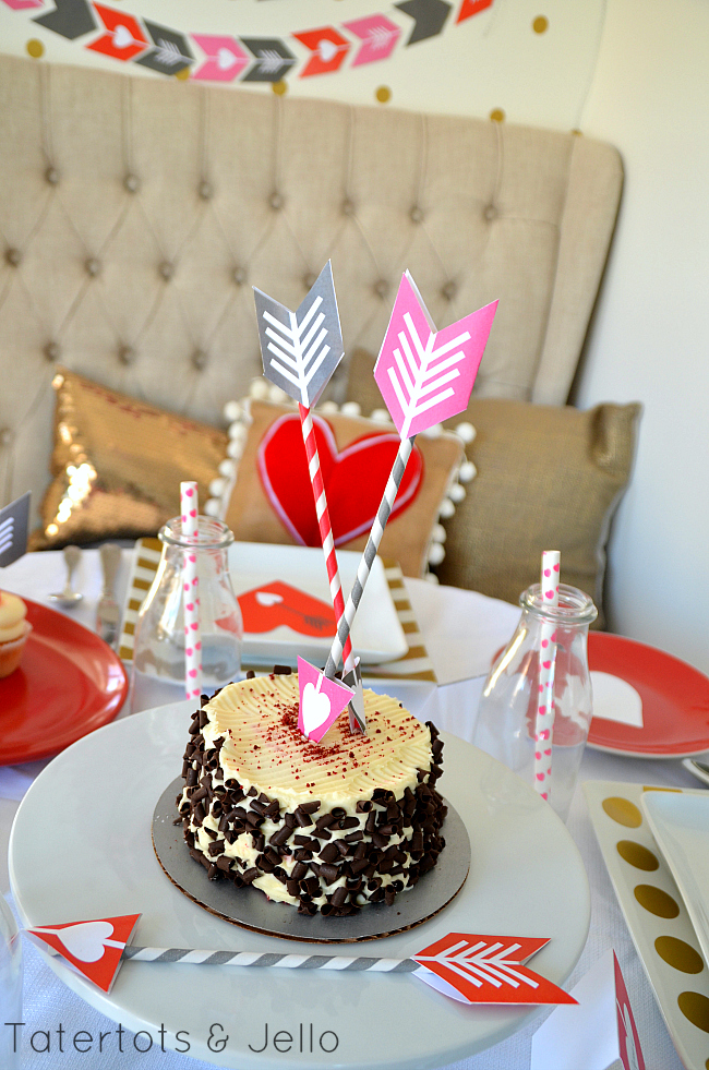arrow and heart valentine printables