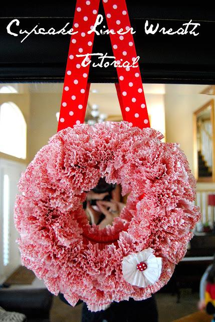 cupcake liner wreath