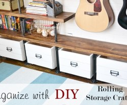 organize with rolling carts