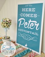 Easter Peter Cottontail Free Printables!