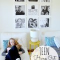 Create a kids' selfie wall using Instagram images on canvases. #instagram #wallart