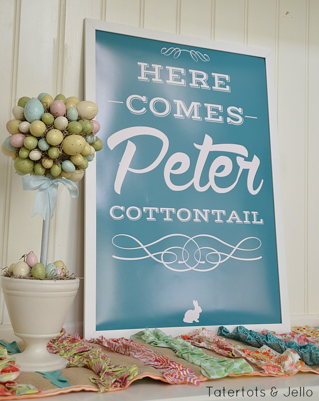 peter cottontail printable for easter at tatertots and jello