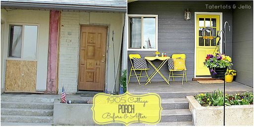 1905cottage porch makeover