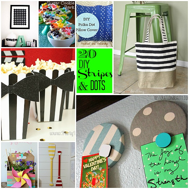 20 DIY Stripes and Dots projects. Bring these patterns into your home with these ideas!