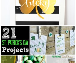 21 DIY St. Patrick's Day projects to make. Easy DIY projects to celebrate St. Patricks Day.