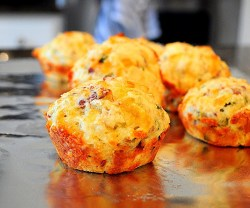 Cheesy Bacon Muffins Recipe!!