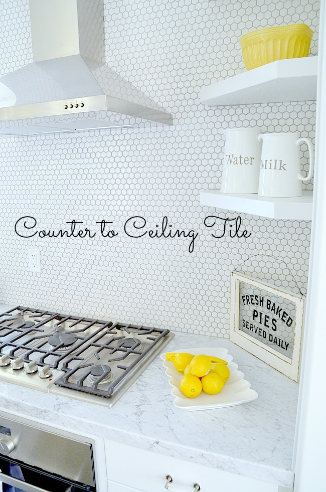 counter to ceiling tile