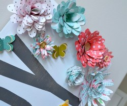 Make a Giant Spring Sign with Paper Flowers!