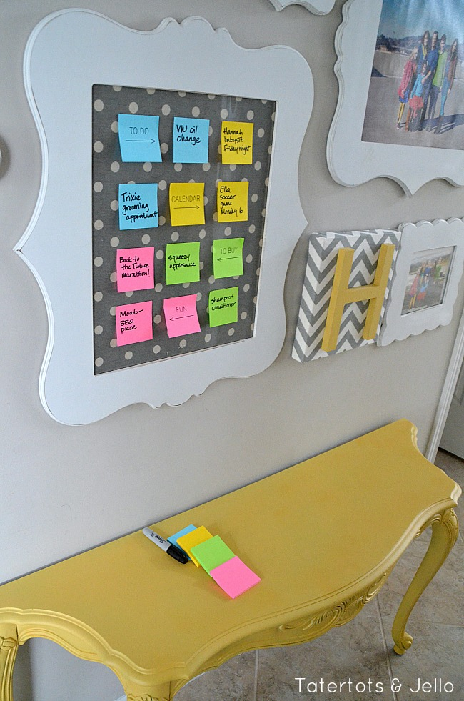 post it note organization center with evernote