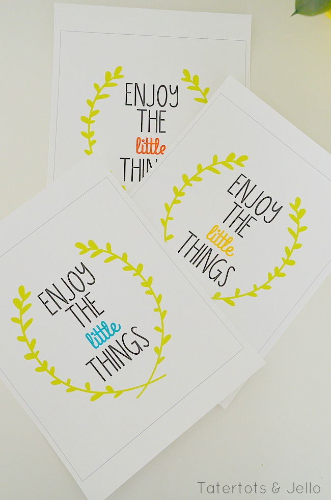 three enjoy the little things printables at tatertots and jello