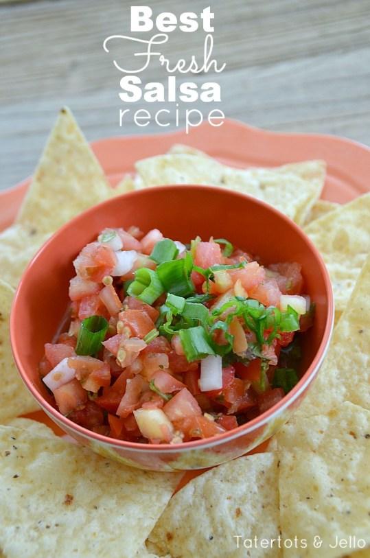 best fresh salsa recipe at tatertots and jello