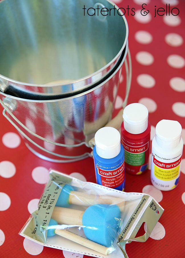 2polka dot pails supplies