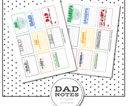 Free Printable Dad Notes for Father's Day