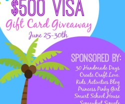 Summer $500 Visa Gift Card Giveaway!