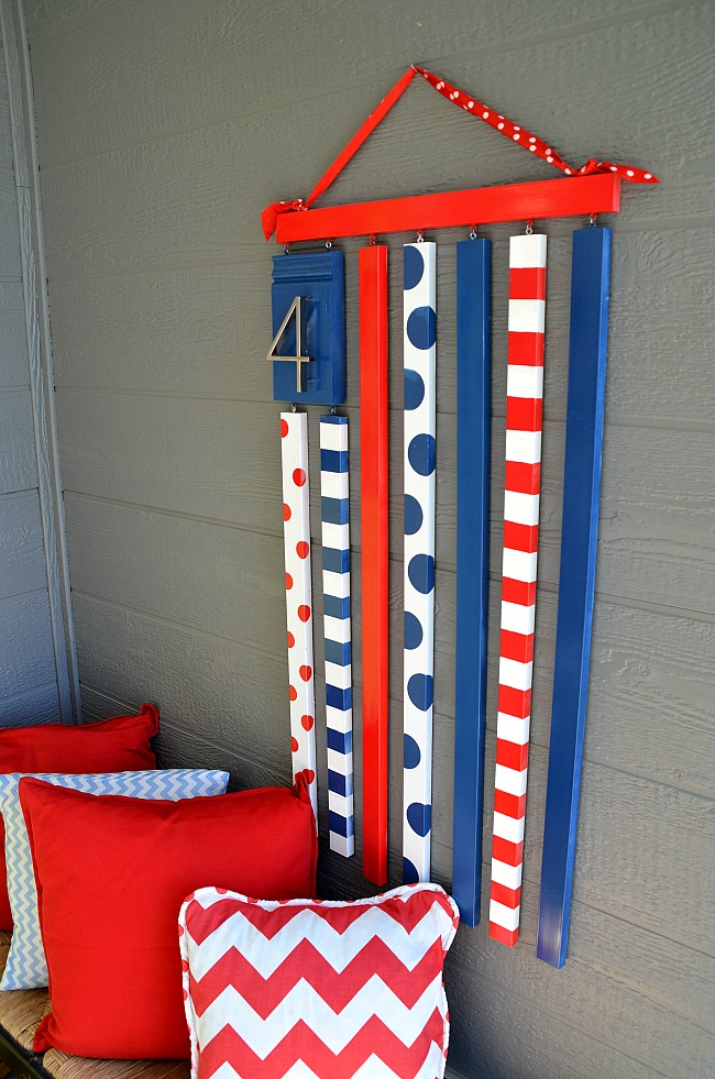 wooden fourth of july flag