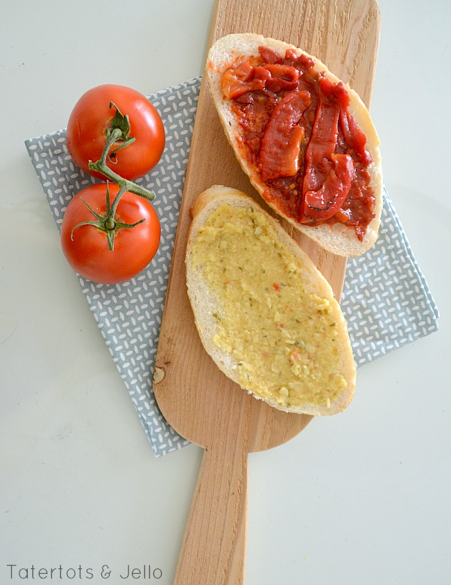 roasted red pepper sandwich recipe at tatertots and jello