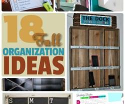 Great Ideas — 18 Fall Organization Ideas!