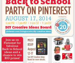 Link Party Palooza — and Enter to Win Back to School Prizes at Sunday's Pinterest Party!