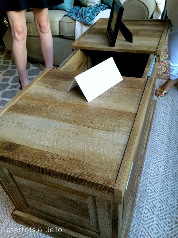 farmhouse chic storage coffe table