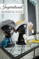 Inspirational DIY Chalkboard Hat Displays!