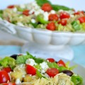 mediterranean orzo pasta salad at tatertots and jello