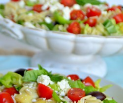 mediterranean orzo pasta salad at tatertots and jello