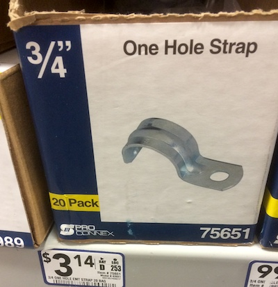 one hole strap lowe's