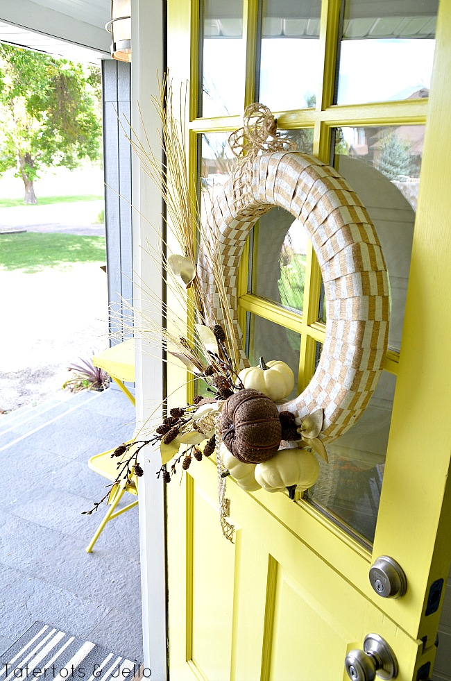 fall natural elements wreath at tatertots and jello