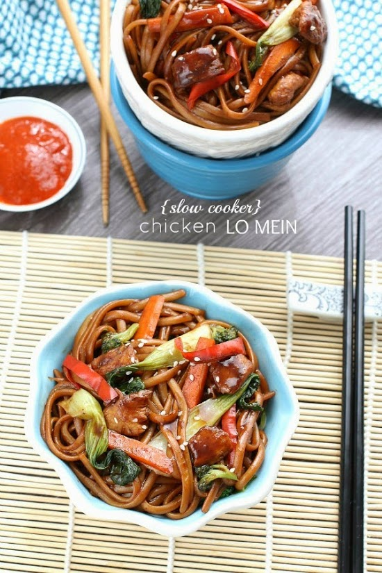 Slow Cooker Chicken Lo Mein {Crockpot} - by @LifeMadeSweeter