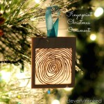 HAPPY Holidays: DIY Fingerprint Christmas Ornament