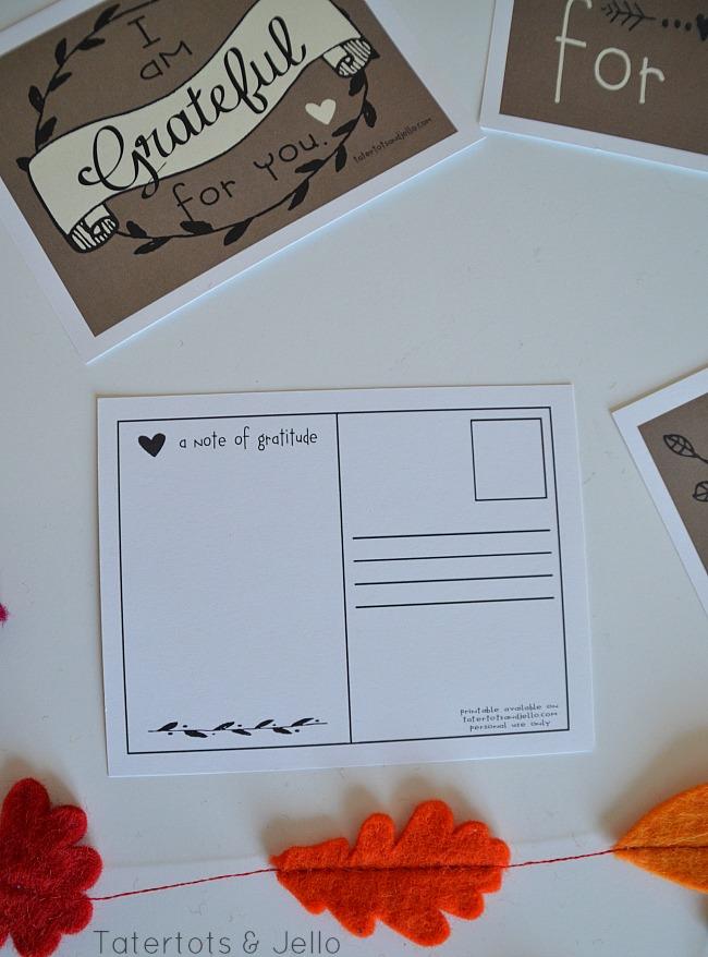 gratitude postcards at tatertots and jello free thanksgiving printables
