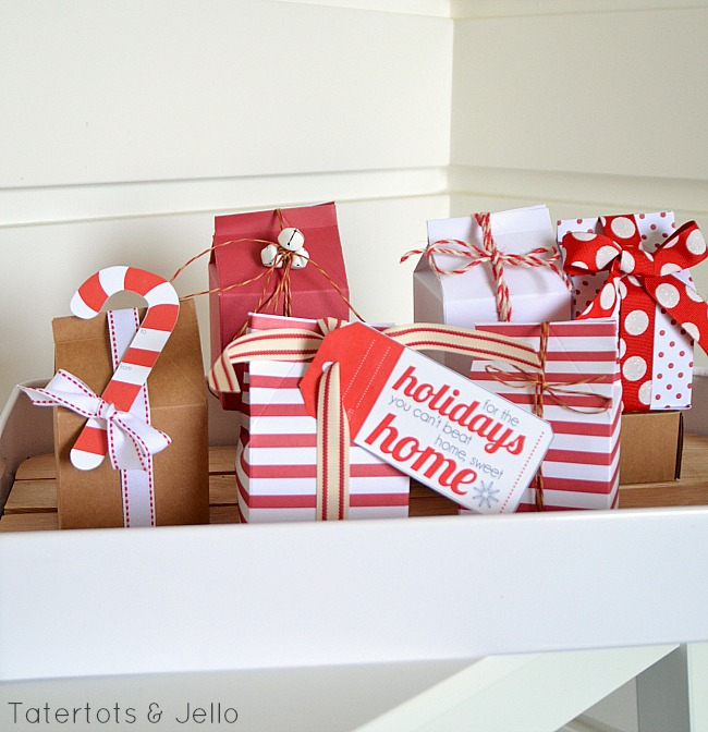 Easy, Creative Gift WrappingAnd Free Printable Holiday Gift