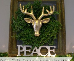 HAPPY Holidays: DIY Gold Deer Head Wreath