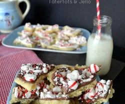 peppermint sugar cookie bark holiday recipe at tatertots   and jello