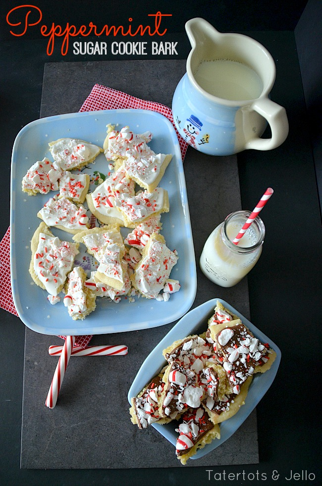peppermint sugar cookie bark recipe at tatertots and   jello