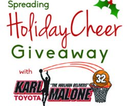 Spreading Holiday Cheer Giveaway with Karl Malone Toyota!