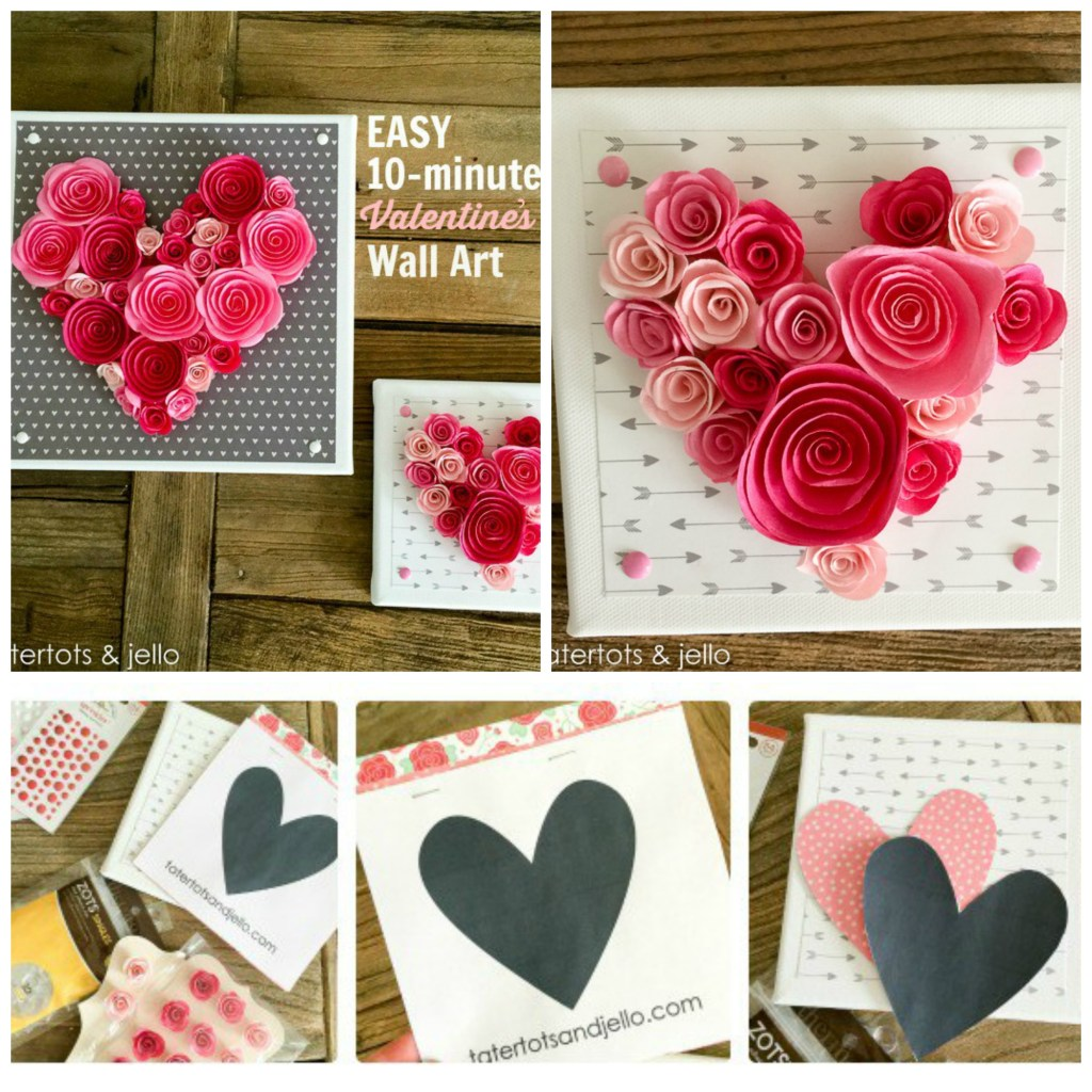 Easy 10-Minute Valentine's Wall Art