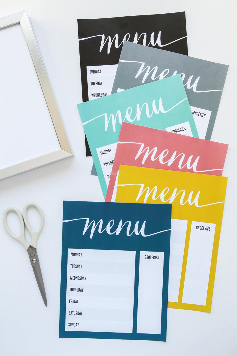 Free-Printable-Menu-Board
