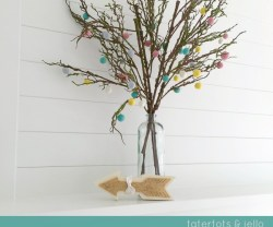Easy Felt Ball Tree Blossoms
