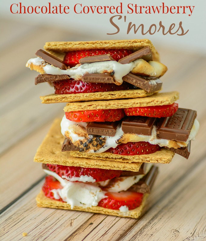 Chocolate Covered Strawberry S'mores @ Almost Supermom