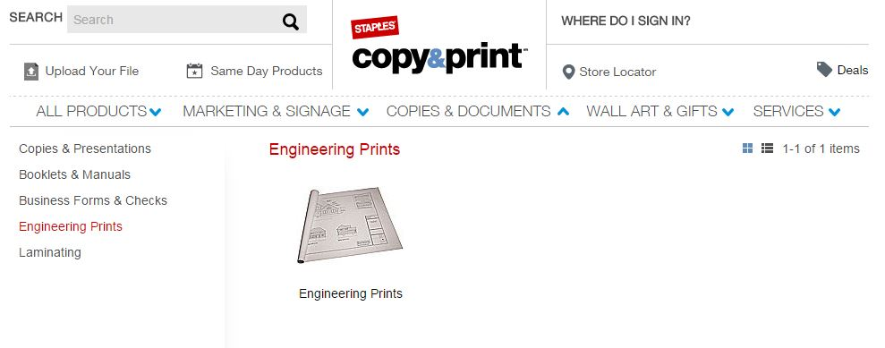 engineering prints staples screen cap