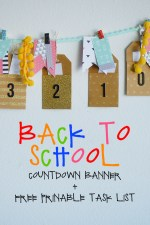 Back to School Countdown Pocket Banner